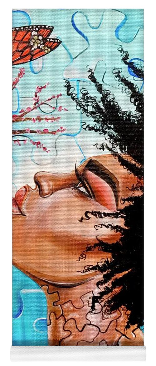 Butterfly Yoga Mat featuring the photograph So Much more to me that you just cant See by Artist RiA