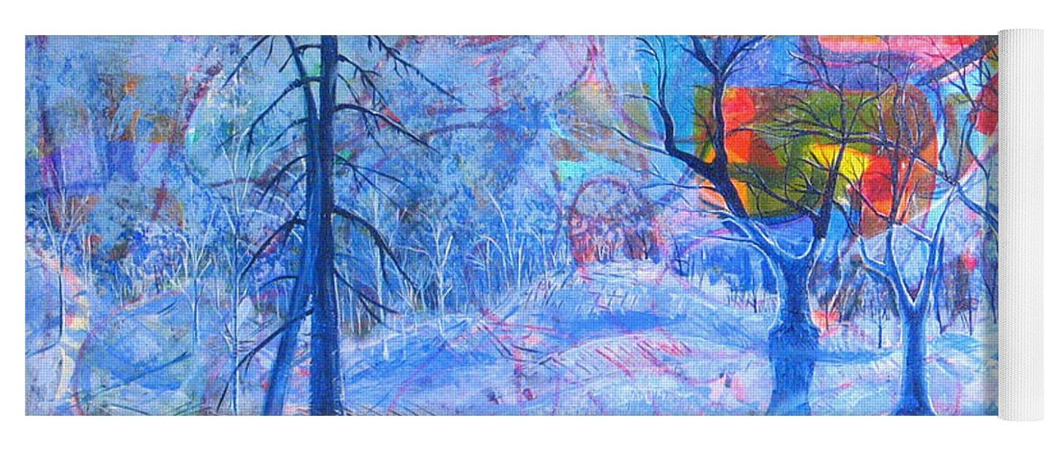 Winter Yoga Mat featuring the painting Solstice by Rollin Kocsis