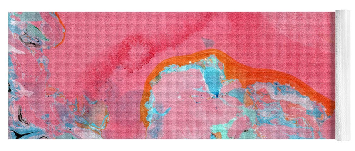Abstract Yoga Mat featuring the painting Somewhere New- Abstract Art by Linda Woods by Linda Woods