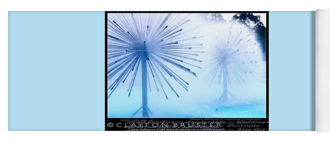 Clay Yoga Mat featuring the photograph Southern California Fountains by Clayton Bruster