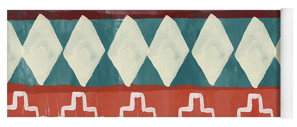 Southwest Yoga Mat featuring the mixed media Southwestern 1- Art by Linda Woods by Linda Woods