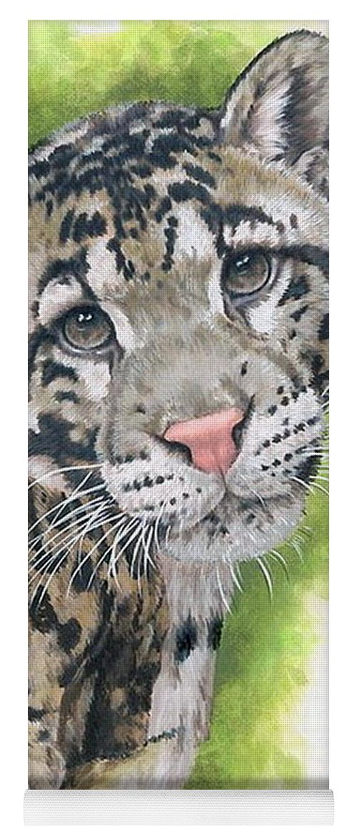 Clouded Leopard Yoga Mat featuring the mixed media Sovereignty by Barbara Keith