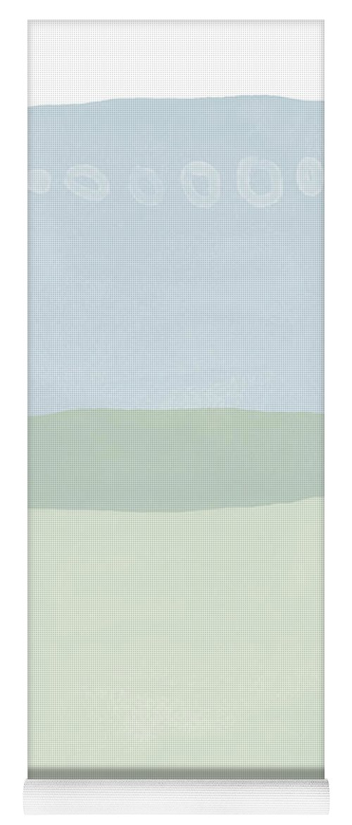 Watercolor Yoga Mat featuring the mixed media Spa 1- Art by Linda Woods by Linda Woods