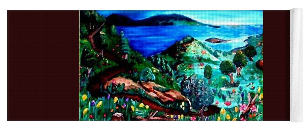 Landscape Yoga Mat featuring the painting Special Land by Andrew Johnson