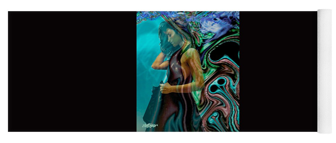 Beautiful Women Yoga Mat featuring the digital art Spell of a Woman by Seth Weaver