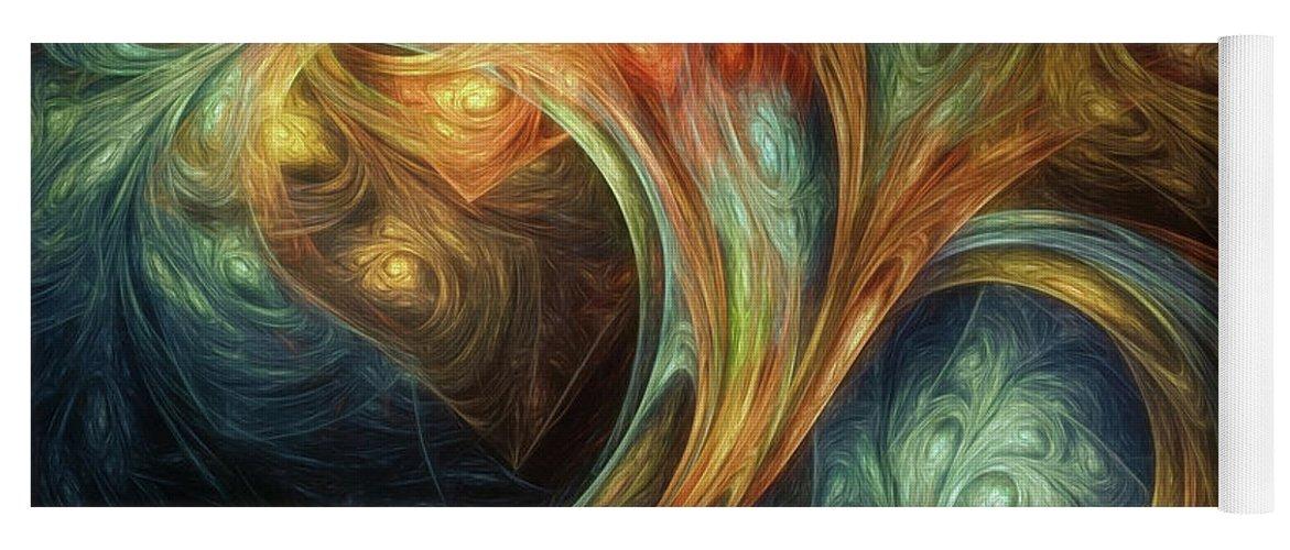 Scott Norris Photography Yoga Mat featuring the digital art Spiralem Ramus by Scott Norris