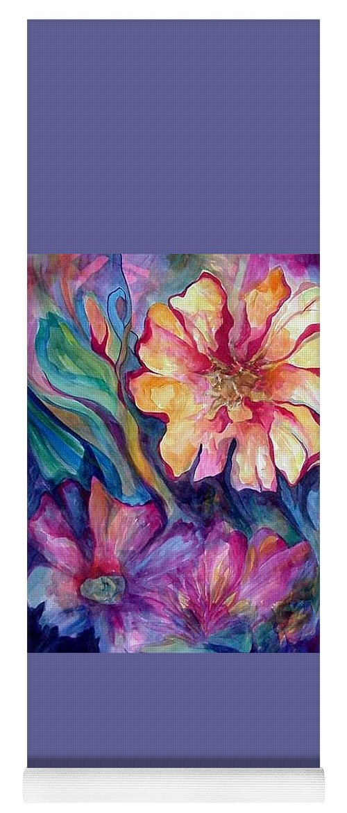 Spring Yoga Mat featuring the painting Spring In My heart by Carolyn LeGrand