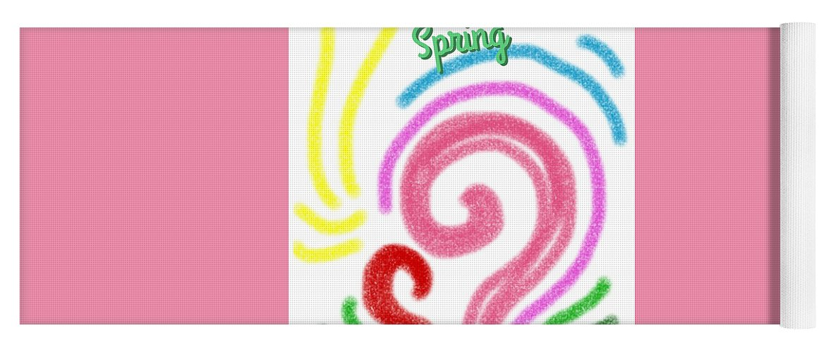 Spring Yoga Mat featuring the painting Spring by Kumiko Izumi