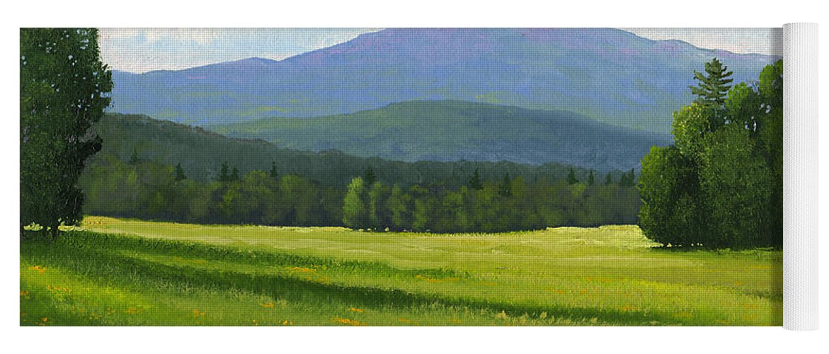 Landscape Yoga Mat featuring the painting Spring Vista by Frank Wilson