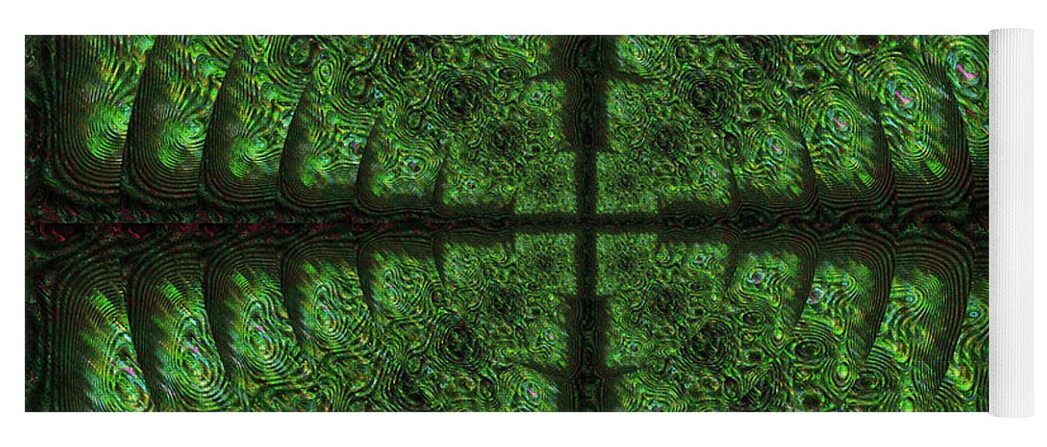 Abstract Yoga Mat featuring the digital art Square Crop Circles Four by Diane Parnell