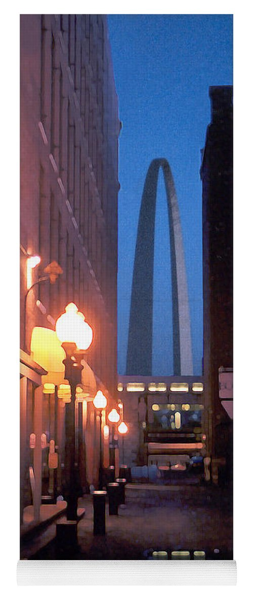 St. Louis Yoga Mat featuring the photograph St. Louis Arch by Steve Karol