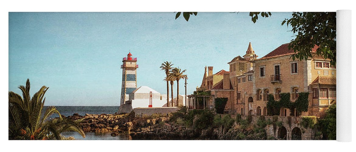 Lighthouse Yoga Mat featuring the photograph Sta Marta Lighthouse by Carlos Caetano