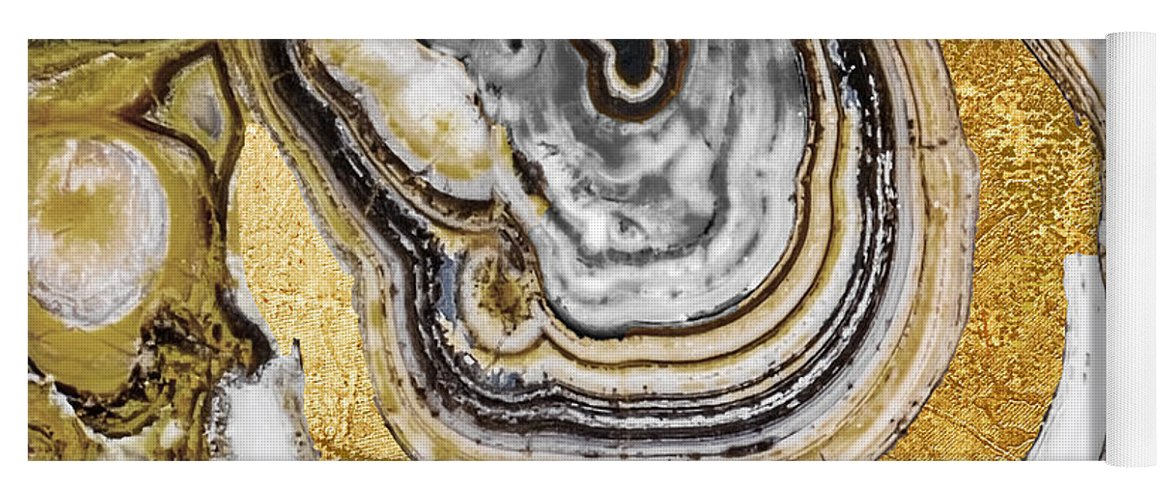 Geode Yoga Mat featuring the painting Stone Prose by Mindy Sommers