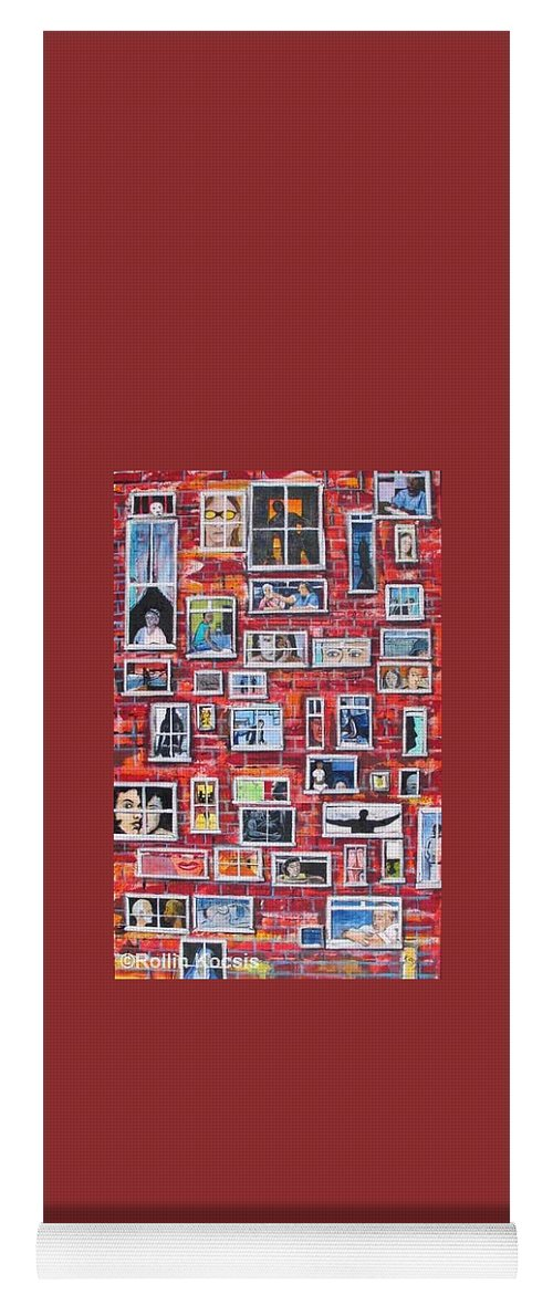 People Yoga Mat featuring the painting Stories by Rollin Kocsis