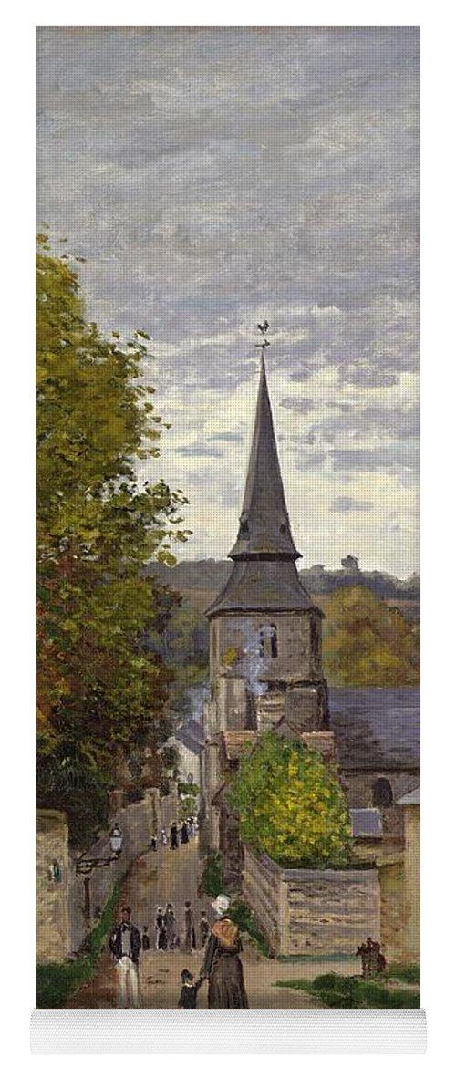 Street In Sainte-adresse Yoga Mat featuring the painting Street In Sainte Adresse by Claude Monet