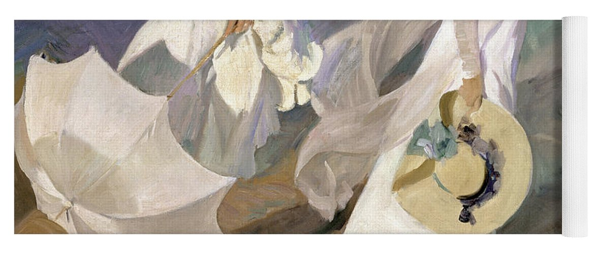 Sorolla Yoga Mat featuring the painting Strolling along the Seashore by Joaquin Sorolla y Bastida