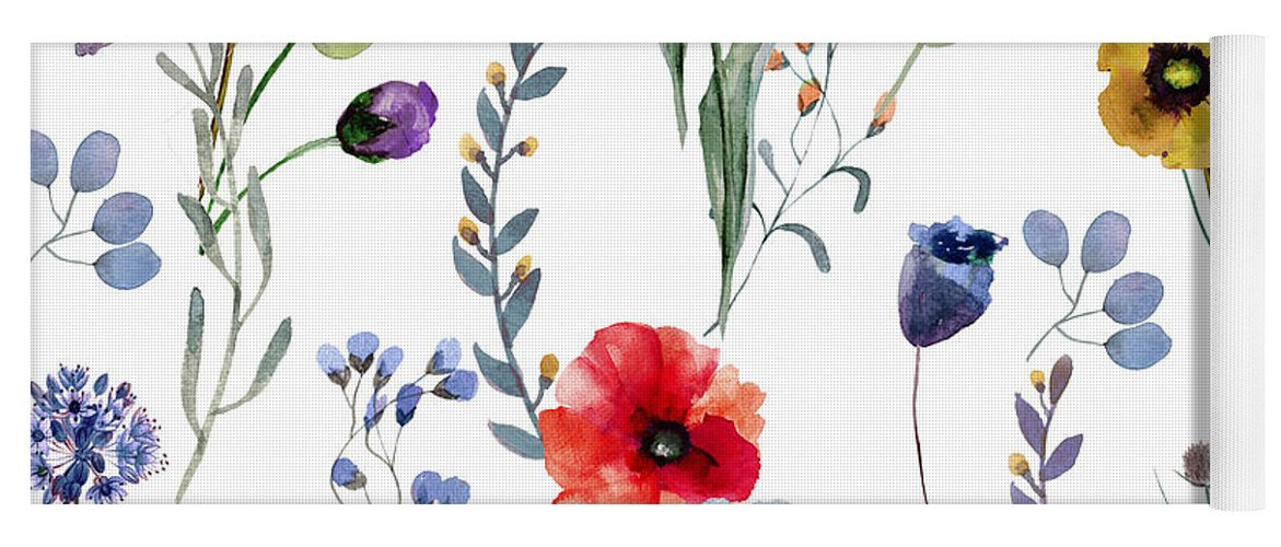 Flowers Yoga Mat featuring the painting Summer Linen by Mindy Sommers