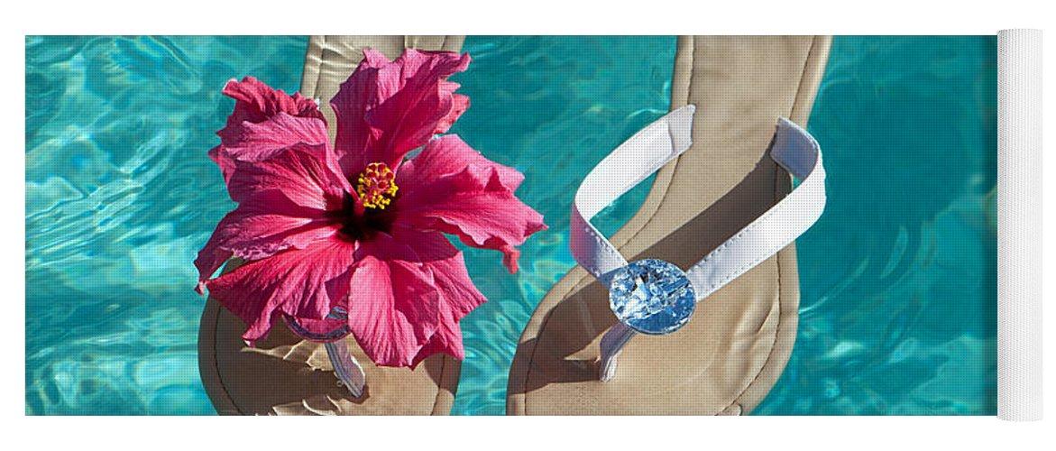 Sandals Yoga Mat featuring the photograph Summer Sandals by Amanda Elwell