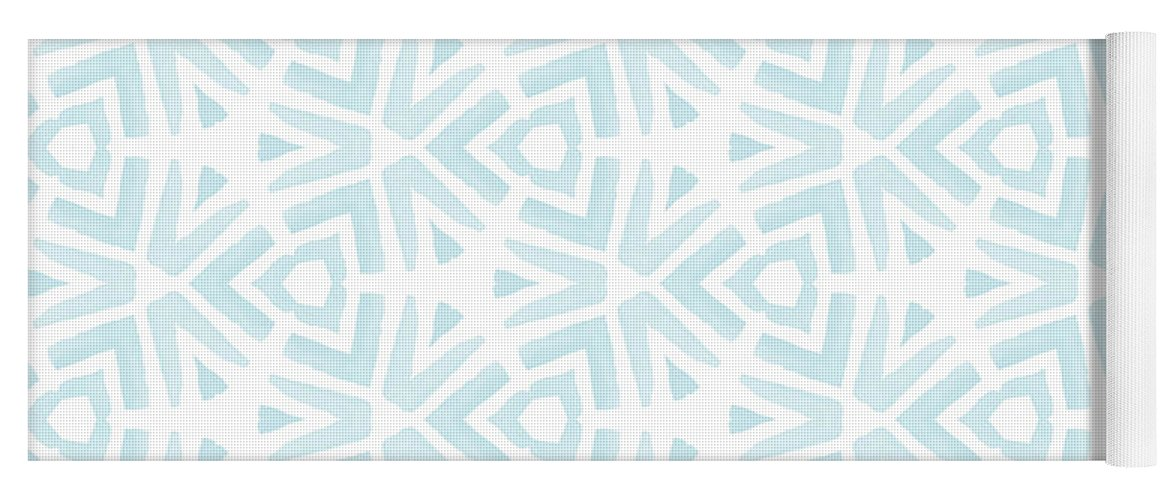 Pattern Yoga Mat featuring the digital art Summer Splash- Pattern Art By Linda Woods by Linda Woods