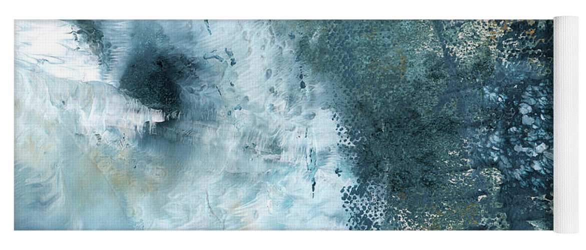 Abstract Yoga Mat featuring the painting Summer Storm- Abstract Art By Linda Woods by Linda Woods