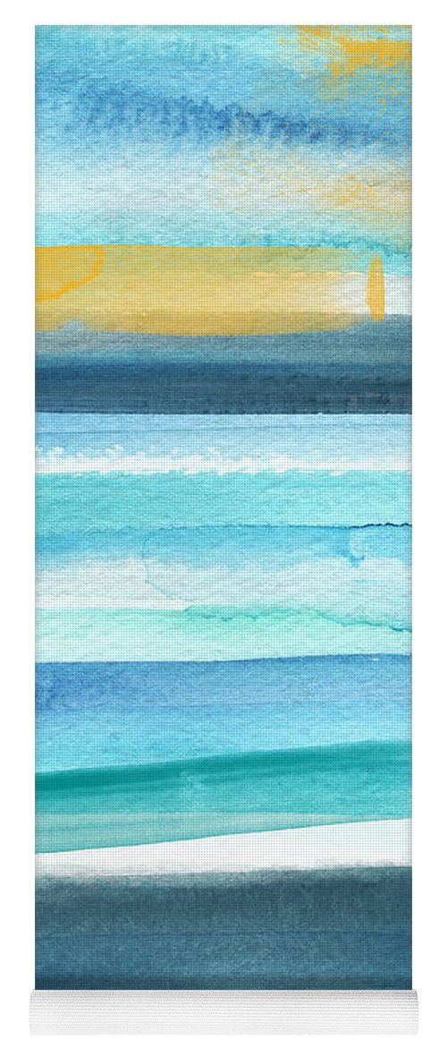 Beach Yoga Mat featuring the mixed media Summer Surf 2- Art by Linda Woods by Linda Woods