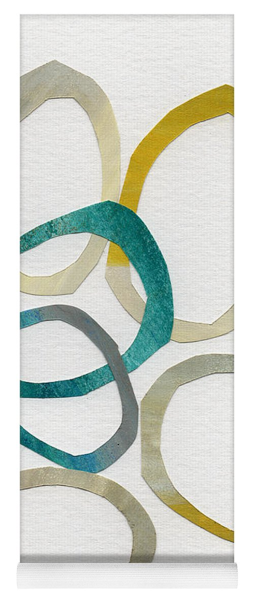 Abstract Art Yoga Mat featuring the mixed media Sun and Sky- abstract art by Linda Woods