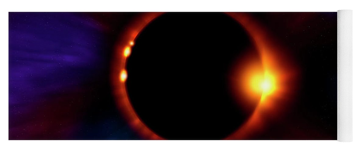 Eclipse Yoga Mat featuring the photograph Sun Fire by Mark Andrew Thomas