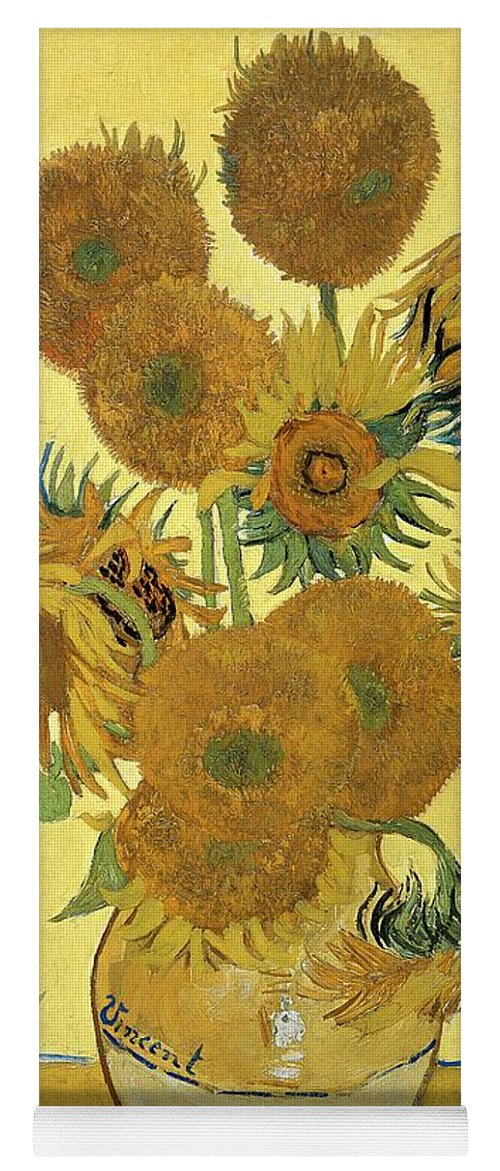 Sunflowers Yoga Mat featuring the painting Sunflowers, 1888 by Vincent Van Gogh