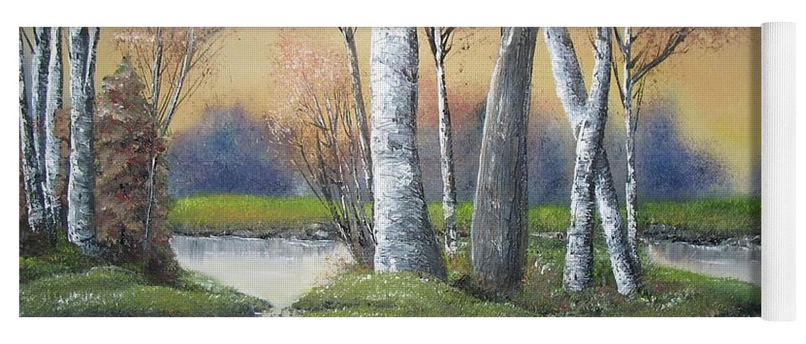 Season Yoga Mat featuring the painting Sunrise Dream by Lisa Cini
