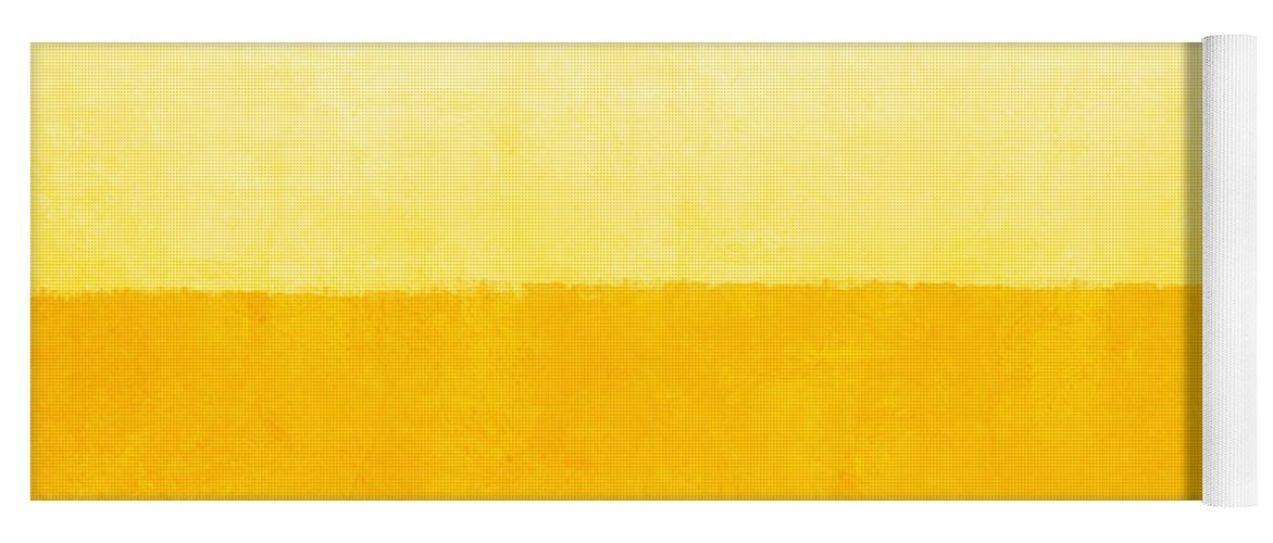 Abstract Yoga Mat featuring the painting Sunrise- Yellow Abstract Art by Linda Woods by Linda Woods