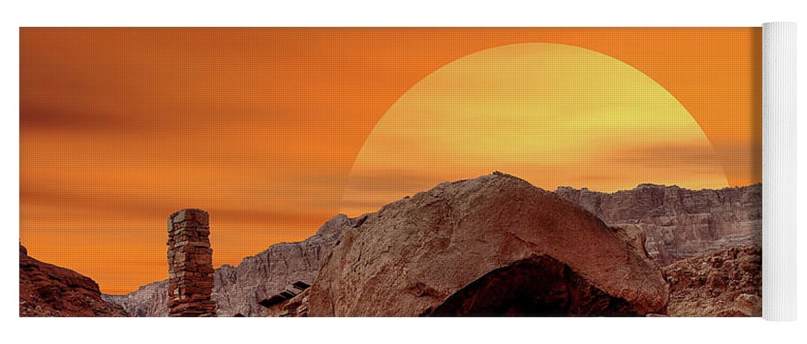 Sunset Yoga Mat featuring the photograph Sunset House by Paul Moore