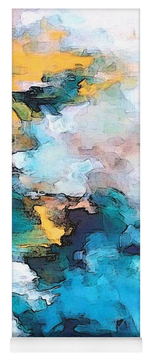 Abstract Yoga Mat featuring the digital art Sweet Memory Shades by Linda Mears