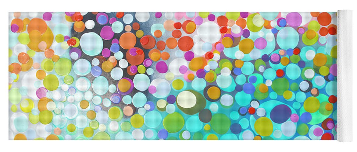 Abstract Yoga Mat featuring the painting Sweet Thing by Claire Desjardins