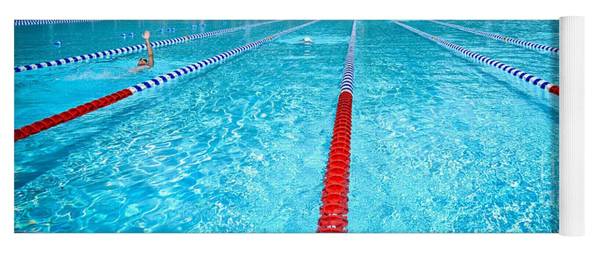 Swimming Pool Lap Lanes Yoga Mat for Sale by Amy Cicconi