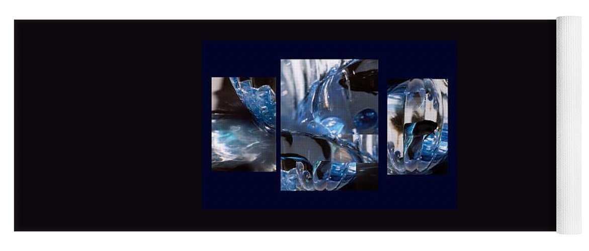 Abstract Of Betta In A Bowl Yoga Mat featuring the photograph Swirl by Steve Karol