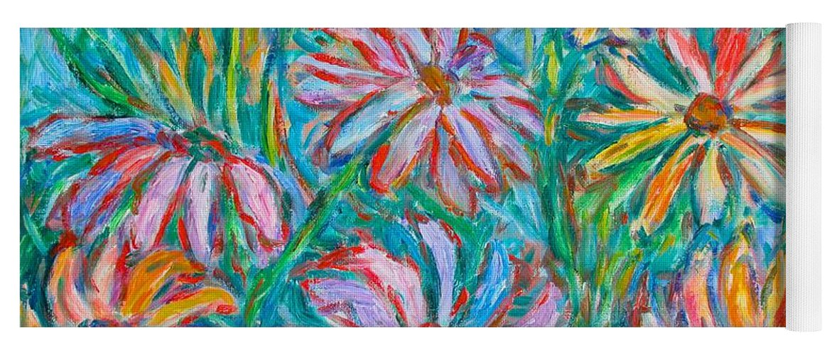 Impressionist Yoga Mat featuring the painting Swirling Color by Kendall Kessler