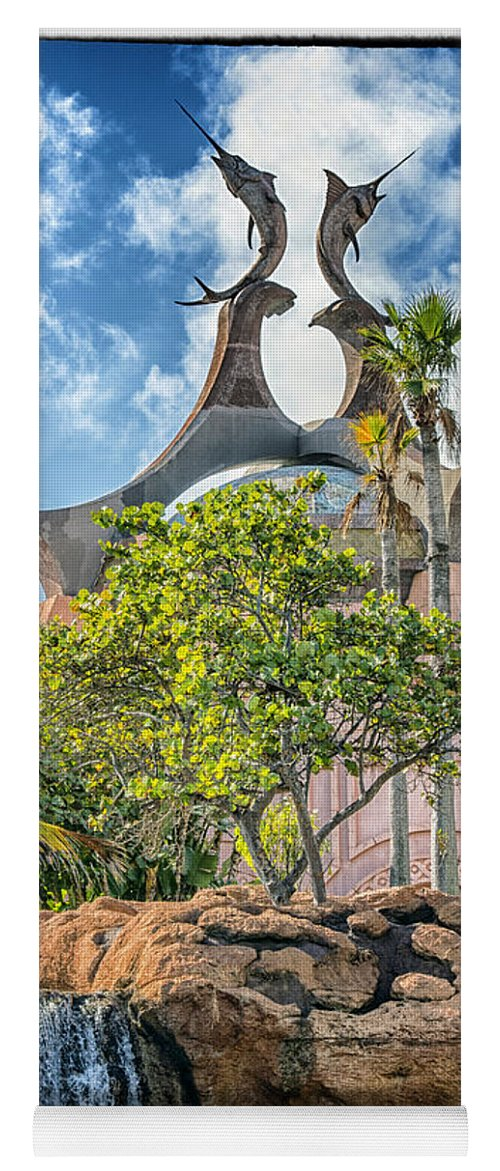 Swordfish Design Atlantis Resort Nassau Bahamas Yoga Mat For Sale By Jon Berghoff