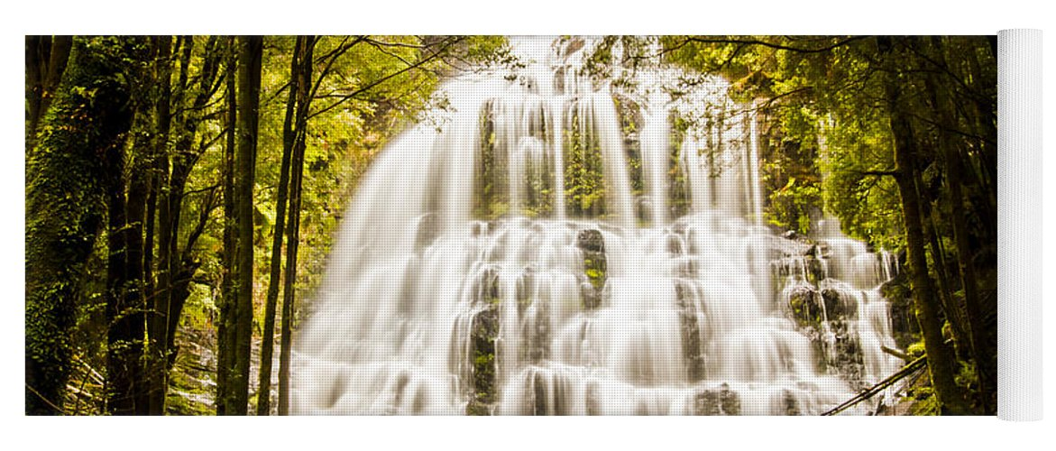 Tasmania Yoga Mat featuring the photograph Tasmanian Waterfalls by Jorgo Photography - Wall Art Gallery