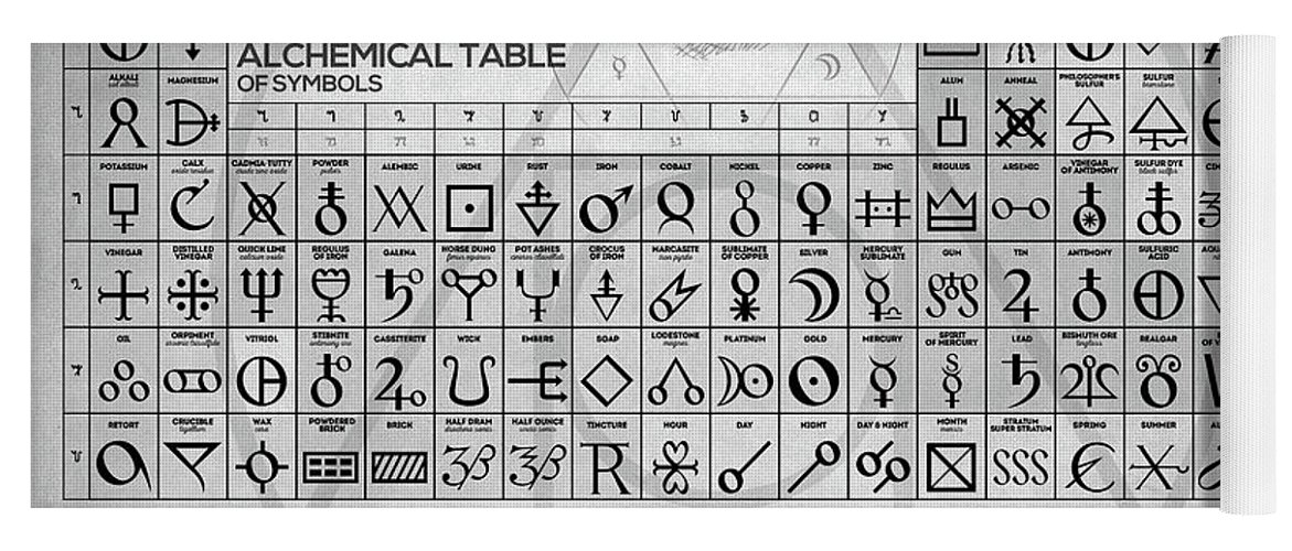 The Alchemical Table Of Symbols Yoga Mat For Sale By Zapista