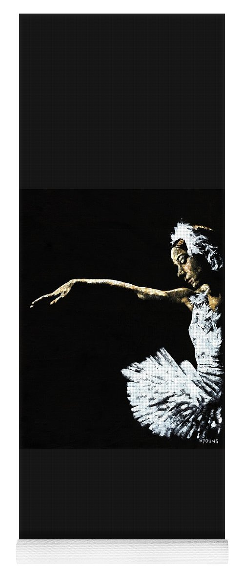 Ballet Yoga Mat featuring the painting The Art of Grace by Richard Young