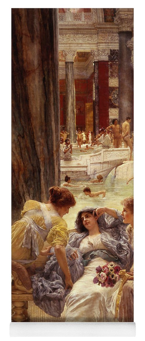 Baths Yoga Mat featuring the painting The Baths Of Caracalla by Sir Lawrence Alma-Tadema