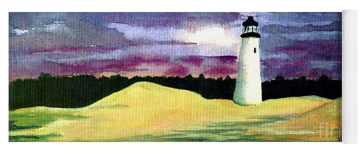 Fine Art Yoga Mat featuring the painting The Beacon by Patricia Griffin Brett