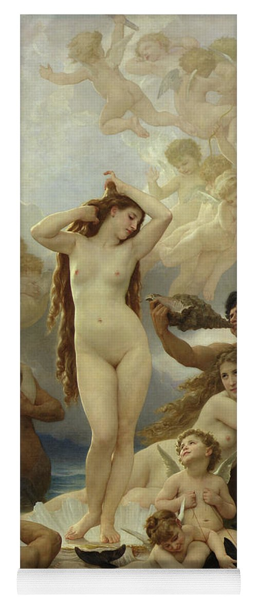The Yoga Mat featuring the painting The Birth of Venus by William-Adolphe Bouguereau