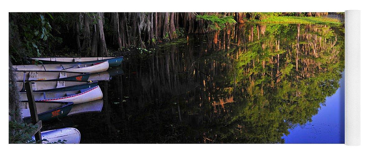 Skip Hunt Yoga Mat featuring the photograph The Black Lagoon by Skip Hunt