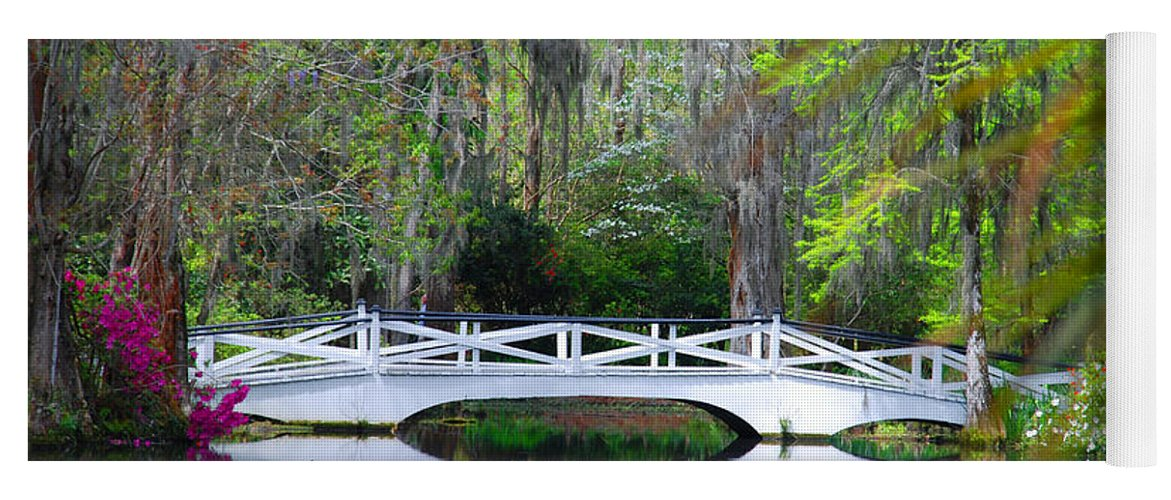 Photography Yoga Mat featuring the photograph The Bridges In Magnolia Gardens by Susanne Van Hulst