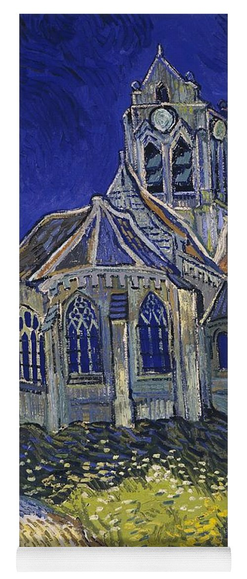 Vincent Van Gogh Yoga Mat featuring the painting The Church At Auvers by Van Gogh