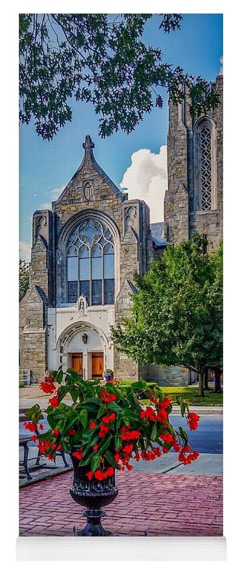 Yoga Mat featuring the photograph The Church In Summer by Kendall McKernon