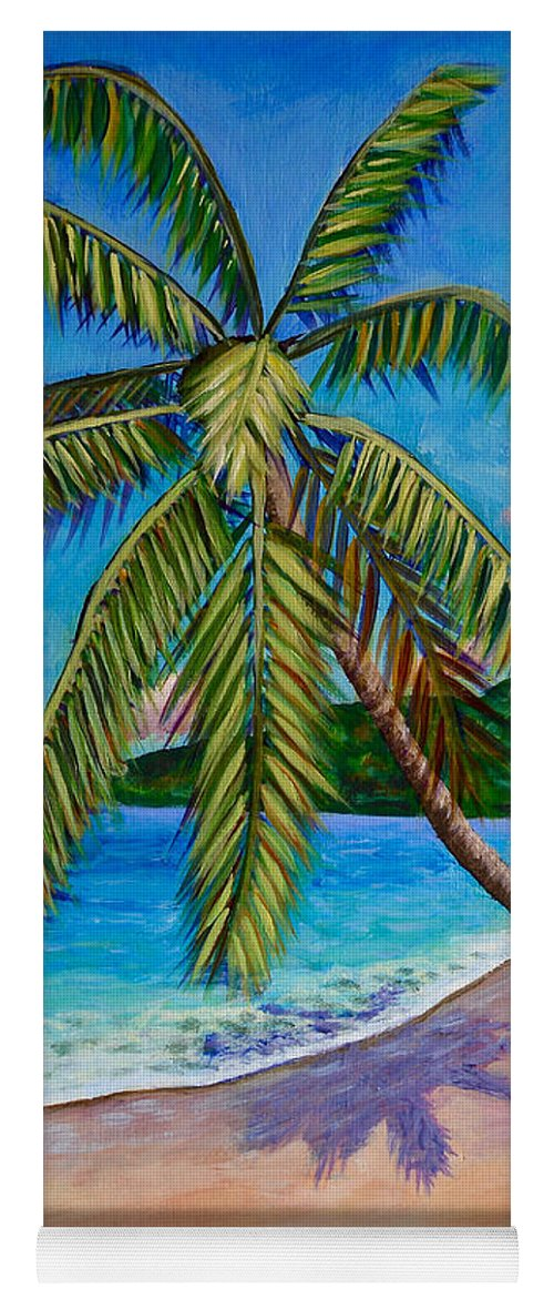 Coconut Tree Yoga Mat featuring the painting The Climb by Laura Forde