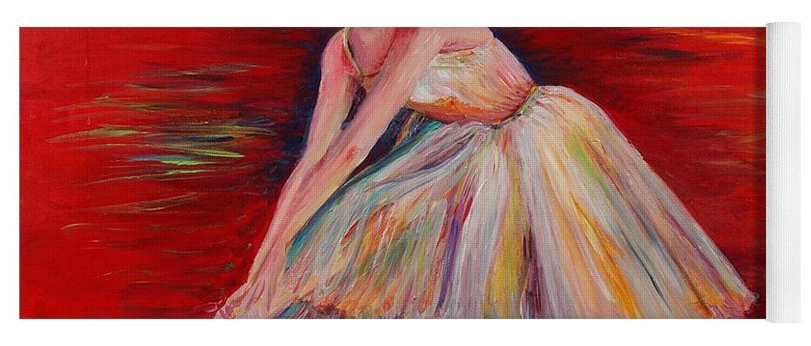 Dancer Yoga Mat featuring the painting The Dancer by Nadine Rippelmeyer