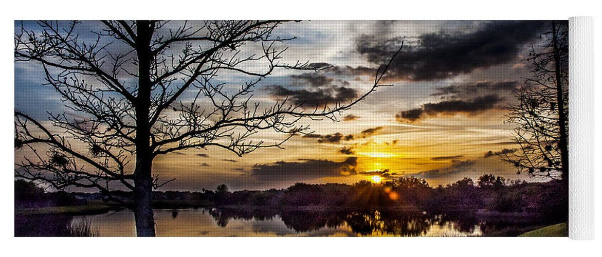 Sunrise Yoga Mat featuring the photograph The Dawn Awakens by Norman Johnson